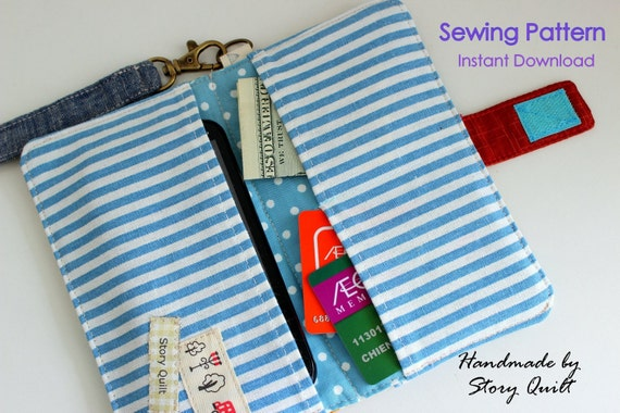 Easy Pattern Cell Phone Wallet Pdf Sewing Pattern