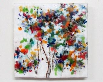 Original Encaustic Painting - Abstract Floral - Flower Painting - Wildflowers Painting - Encaustic Art - KlynnsArt
