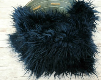 navy faux fur newborn photo prop fur rug basket filler faux fur - Faux Fur Rugs