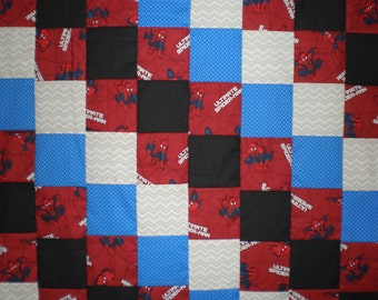 SALE Ultimate Spider-man Patchwork Quilt