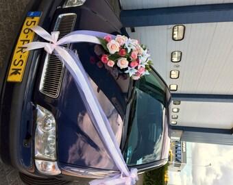 Organza & Satin Ribbons Wedding Car