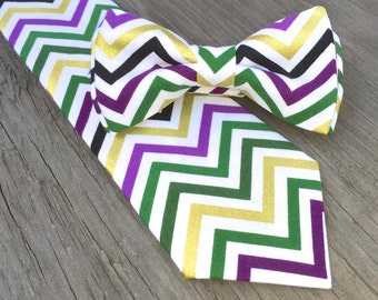 fall bow tie, fall neck tie, purple green gold tie, boys halloween bow tie, mens purple and green tie, gold and green tie