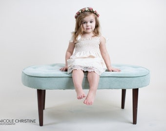 Ivory Lace Flower Girl Dress...Rustic Flower Girl Dress... Cream, Ivory or White... Eco-friendly...6m,9m,12m,18m,2t,3t,4t,5,6,7,8