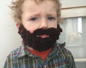 Dark Brown Crocheted Bobble Beard