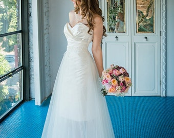 Pieced Tulle Bridal Skirt