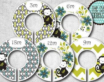 Baby Closet Dividers - Clothes Organizers - Sweet Monkey
