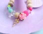 Flower Fairy Charm Bracelet - Girl's