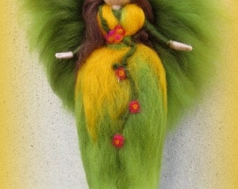 Cora - Felted angel - needle felted and waldorf inspried