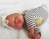 Gold Polka Dot Knotted Headband Turban Baby Girl Toddler Headwrap Headband