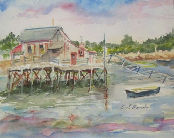 Booth Bay Harbor, Maine - Original Watercolor