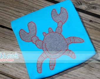 Abstract Crab Bean Stitch Vintage Applique Design Machine Embroidery INSTANT DOWNLOAD