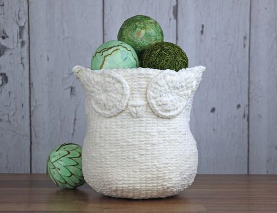 Knitting Pattern Knit Owl Basket Knitting Pattern