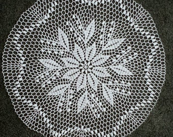 New 23'' Handmade crochet doily 100% cotton ,lace doily, table decoration, crocheted place mat, center piece, doily tablecloth