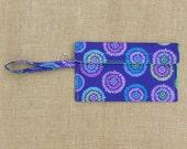 Wristlet - Wallet - iPhone 6 Plus Case - Keychain - purple circle flowers
