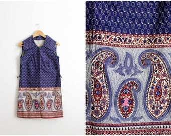 60s Boho Mini Dress /Mod Dress / 1960s Dress / Bohemian Indian Dress / Size S/M
