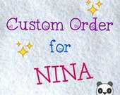 Custom Order for Nina, Kawaii Card Holder