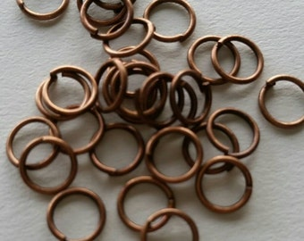 300 Antique Copper Jumprings 6mm Nickel Free unsoldered for your art or jewelry projects (BS1024)