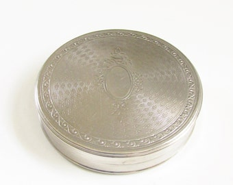 Vintage Richard  Hudnut Gardenia Powder Compact Silver 1920s