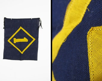 Vintage 50s Cub Scout Flag Blue and Yellow 1950s Banner