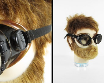 Vintage 40s Willson Goggles Steampunk Safety Motorcycles Glasses Bakelite - Made in USA