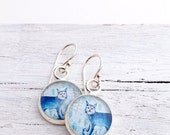 Clearance Sale Silver WILD CAT EARRINGS / Bobcat Cat Jewelry / Bronze or Sterling Silver Handmade Earrings
