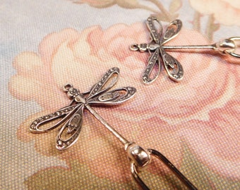 Sterling Silver Dragonfly Hairpins - 2