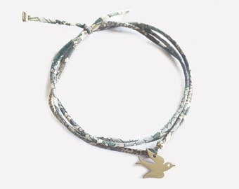 Liberty Bracelet with steel Swallow • Bracelet Liberty Hirondelle en Acier