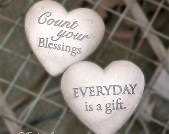 Count Your Blessings Stones Photography, Inspirational Photo, Still Life Photo