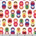 Suzy's Minis - Matryoshka Dolls Bright by Suzy Ultman from Robert Kaufman
