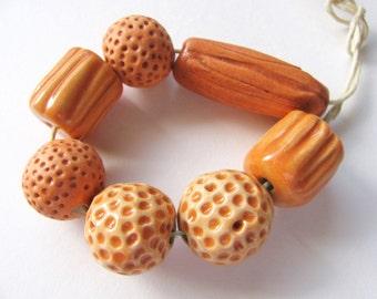 Large Laid Back Orange Beads (7)