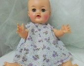 Vintage Betsy Wetsy Ideal Doll, 1950s Dolls, Hand Spun Dress W/Bloomers, Vtg Baby Dolls, Molded Hair, Cherub Face Betsy Wetsy Drink & Wet