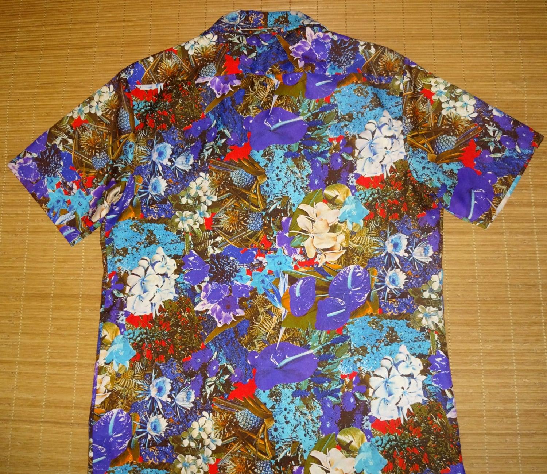 Mens vintage 70 39 s andrade photo print pineapple hawaiian for The hawaiian shirt company