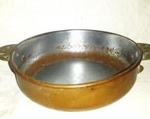 antique Revereware Rome copper porringer pan