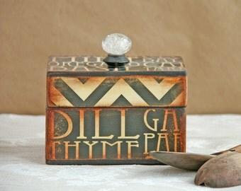keepsake box, recipe box, decoupage, vintage, rustic, decorative box, for the kitchen