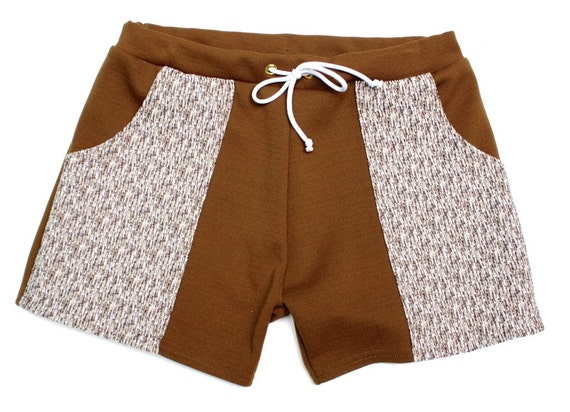 1960s Style Men's Clothing, 70s Men's Fashion Frankie Four Handmade Mens Vintage Style Brown Swim Trunks $60.00 AT vintagedancer.com