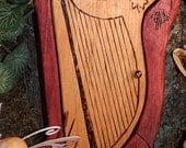 Celtic Harp Fairy Gnome Elf Door