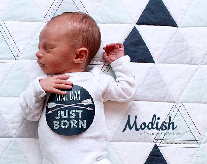 Featured listing image: Baby Boy Month Stickers - Tribal Baby Photo Prop