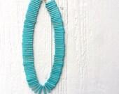 Turquoise Necklace - Yellow Gold Jewellery - Chunky Jewelry - Fashion - Beaded - Statement - Southwestern