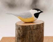 Hand Carved Chickadee  on Driftwood Box,   Rustic, Folk Art, Gift box, Handmade in Ohio, Anniversary, Bird Lover, Birds,Nature,Wildlife,
