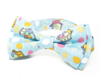 EASTER bow tie for all ages - pre tied bowtie, wedding, photo prop, ring beare or church