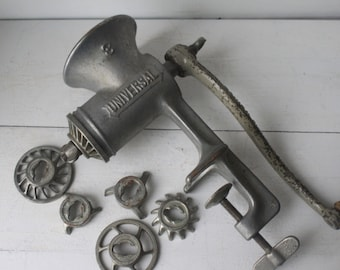 Antique Universal Number 3 Grinder with Attachments