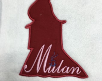 Mulan Silhouette Patch