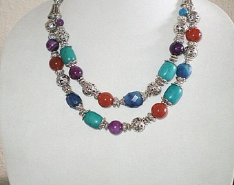 Double Strand Large Bead Necklace