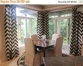 SALE Designer Curtains- Pair of Drapery Panels- Premier Prints Denton Curtains- 25W or 50 x 63 84 96 108 inch Drapes- Burlap Cafe Curtains