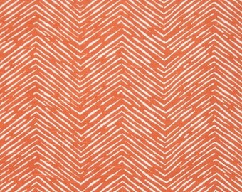 CLEARANCE Toss Pillow Cover- Premier Prints Tangelo Orange Cameron Pillow- 14x14 inches- Zippered Pillow- Cushion Cover- Chevron Toss Pillow