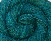 Luxury Handspun Yarn - JERVIS INLET - Hand painted Silk / Polwarth wool, DK weight, 330 yards