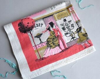 1960 Calendar Linen Tea Towel / Wall Hanging