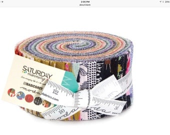 Saturday Morning cotton jelly roll by Basic Grey for Moda fabric