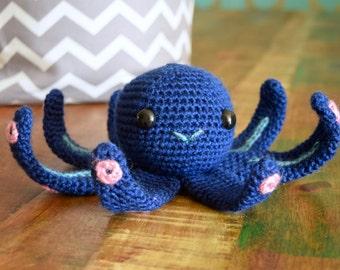 Blue Octopus Amigurumi Plushie