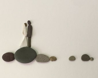 Wedding pebble art by sharon nowlan 8 by 15